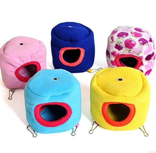 Da.Wa 1 Stück Netter Hamster Winter Warm Fleece Hängematte Toy Hanging Bed Nest Haus für syrischen Hamster Gerbil Ratte Maus Kleine Tier Käfig (zufällige Farbe) (Hamster Kleine Käfige Für)