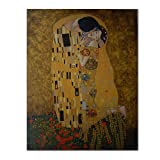 El Beso - Gustav Klimt - Cuadro pintado a mano, medidas...