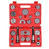 KKmoon 22 Unids Auto Universal Freno de Disco Calibrador Viento Del Coche Back Pad Pad Compresor de Automóviles Garaje Kit de Herramientas de Reparación Set con Estuche