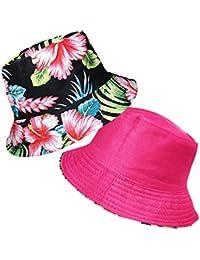 9997bcefdff TOSKATOK® UPF 50+ Ladies Womens Reversible Cotton Retro Floral Bush Bucket  Sun Hat