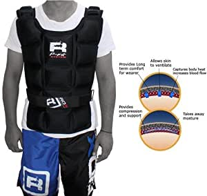Authentic RDX Weighted Jacket 10KG Weight Training Exercise Vest