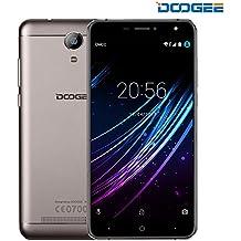 Smartphone Libre, DOOGEE X7 Pro Teléfonos Móviles Libres Baratos - Android 6.0 4G Móvil Libre - MTK6737 Quad Core 1.2GHz - 6.0 Pulgadas HD IPS Pantalla VR Soportado - 8 MP Cámara - 2GB RAM + 16GB ROM - Batería de 3700mAh, Gesto Inteligente, OTG, OTA - Oro