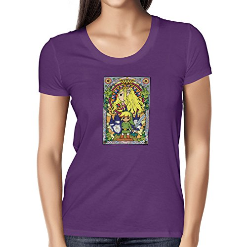 TEXLAB - Window Link - Damen T-Shirt Violett