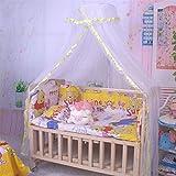 Moskitonetz für Babybett, bismarckbeer transluzent Bettchen zum Aufhängen Betthimmel Netz Vorhang Kinder Zimmer der Decor, Netzstoff, gelb, Einheitsgröße