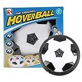 Oyamihin Lustiges LED-Licht blinkende Kugel Spielzeug Air Power Fußball Disc Indoor Fußball Spielzeug Multi-Oberfläche schweben Gleiten Spielzeug - weiß & schwarz