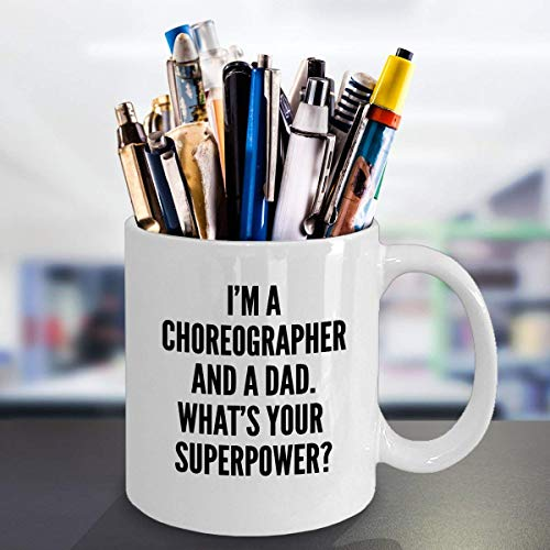 ChGuangm Best Choreographer Dad Coffee Mug Funny Gift for Dance Teacher Daddy Birthday Christmas Fathers Day Gift Idea for Dancing Lover Dancer