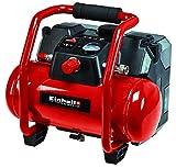 Einhell 4020450 TE-AC 36/6/8 Li OF Set-Solo Akku-Kompressor, Rot, Schwarz
