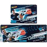 Nerf Laser-Ops Pro Alphapoint -DeltaBurst , E2280 - E2279 - di Hasbro OFFERTA 2 PEZZI - 1 PISTOLA E 1 Fucile - PER 2 GIOCATOLI - Originali Hasbro -
