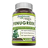 Pure Naturals Fenugreek Seed 610 Mg, 180 Capsules