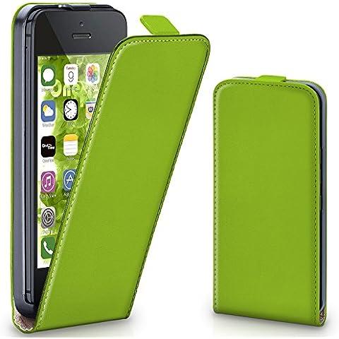 Bolso OneFlow para funda iPhone 5C Cubierta con imán | Estuche Flip Case Funda móvil plegable | Bolso móvil protección móvil paragolpes funda protectora con cubierta en Verde