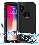 Coque iPhone X, Dailylux Coque Étanche pour iPhone X,iPhone X Waterproof case,Waterproof Case Anti-choc et Anti-poussière Professionnel Housse Etui pour iPhone X (2017)-Noir