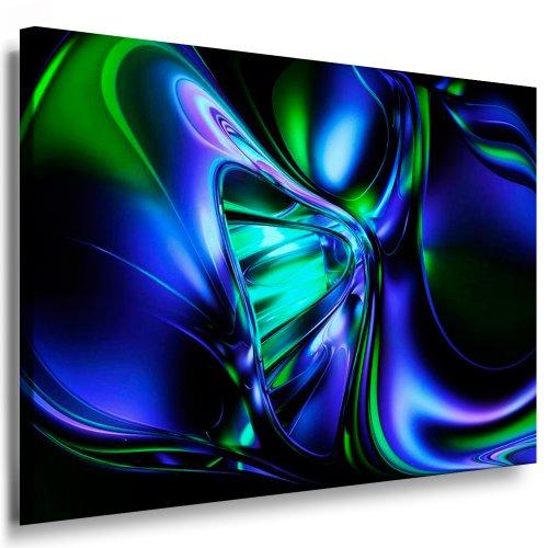 Kunstdruck Abstrakte 3D Grafik / Bild 100x70cm / Leinwandbild fertig auf Keilrahmen / Leinwandbilder, Wandbilder, Poster, Pop Art Gemälde, Kunst - Deko Bilder - Grafik-pop