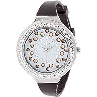 Orologio Donna, Think Positive, Modello SE W116A Star Dust Tunnel Medium Acciaio, Cinturino Di Silicone, Orologio Analogico Fashion, Marrone
