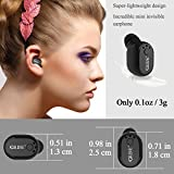 from QCY Mini Wireless Headphone,Bluetooth 4.1 Ultra Light Invisible In Ear Headphone Single Wireless Earbud,Upgrade Magnetic Charge Bluetooth Headphone with Mic,Handsfree Noise Cancell for iPhone Samsung LG