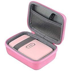 co2CREA Harte reiseschutzhülle Etui Tasche für Fujifilm Instax Mini Link Portable Bluetooth Wireless Smartphone Printer (Pink Outside,Grey Inside)