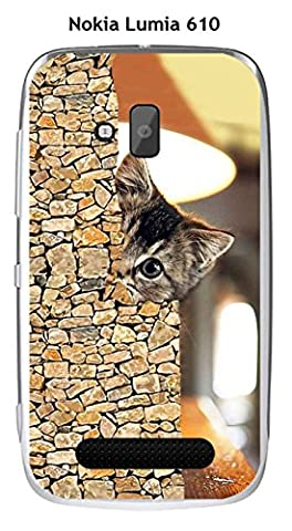 Coque Nokia Lumia 610 design Chat caché