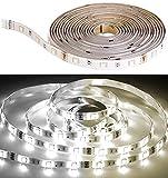Luminea Zubehör zu LED-Streifen-Komplettset: LED-Streifen LAT-530, 5 m, 800 Lumen, warm/kaltweiß, dimmbar, IP44 (LED Lichtband)
