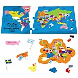 #8: Imagimake Kids Mapology World Toy with Flags and Capitals Educational (Multicolour)