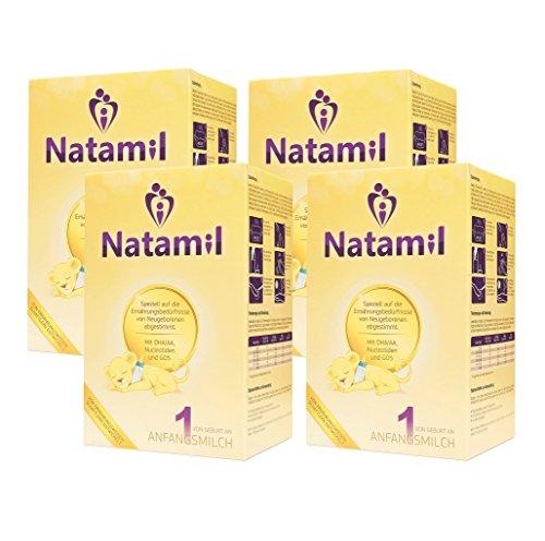 Natamil 1 Anfangsmilch, von Geburt an, 4er Pack (4 x 800 g)