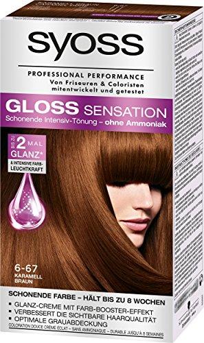 Syoss Gloss Sensation Intensiv-Tönung 6-67 Karamell Braun, 3er Pack (3 x 115 ml)