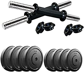 Fat2fit 22 kg Weight Plates (Rubber) + 1 Pair of dumble rods(Best Quality with Low to Lowest Price