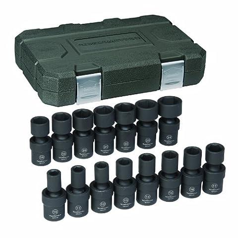 KD Tools KDT84939 .50 po Pans 6 Metric Universal impact Socket Set - 15 Pi-ces