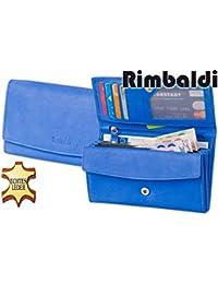 Rimbaldi - Große Luxus-Damengeldbörse mit viel Platz aus weichem, naturbelassenem Kalbsleder