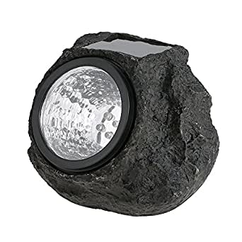 Solar Rock Spot Lights Garden,KINGCOO 4LEDs Simulation Stone Decorative Spotlight Landscape Path Light for Outdoor Pathways Patios