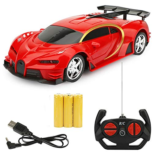Wapipey RC Cars 1:18 Sportwagen Bugatti RC Rennwagen 2,4 GHz 4 W Lenkservo High Speed   RC Rennwagen Kinder Monster Trucks Bestes Halloween (Color : Red) (Halloween Monster Truck)