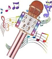 BWSJ Karaoke Microphone Wireless Bluetooth 5 in 1 Portable Handheld Microphone Speaker Mic Player Machine Gift