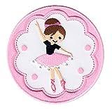 PatchMommy Ballerina Ballett Patch Aufnäher Applikation Bügelbild - zum Aufbügeln oder Aufnähen...