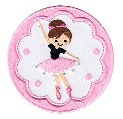 PatchMommy Bailarina Ballet Parche Termoadhesivo Parche Bordado - Apliques para Niños