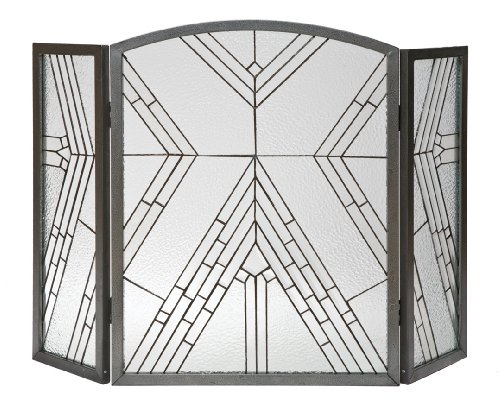 Panacea Produkte 15190Wright Glas 3-Panel Kamin Bildschirm, antik eisen (Panel-kamin-bildschirm)