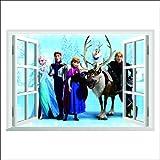 Topro Disneys Die Eiskönigin – Völlig unverfroren 3D-Wandtattoo, Elsa Anna Olaf Kristoff Sven Hans