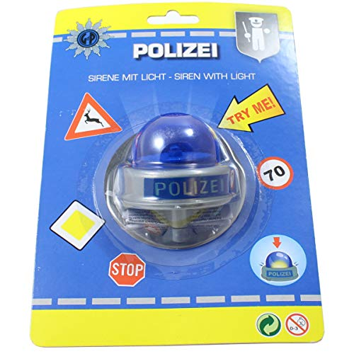 Smart Planet Fahrradklingel Polizei Sirene Bike Fun Polizeisirene lustige Kinder Fahrrad Klingel für den Fahrradlenker - Fahrrad-polizei