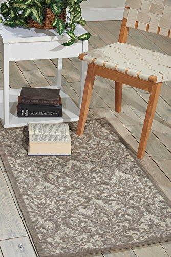 Nourison Teppich Mondrian 99446341341-Elfenbeinfarben grau power-loomed Teppich, elfenbein grau, 2ft 3Zoll x 3ft 9Zoll - Nourison Nourison Teppich Grau