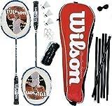 Wilson [N] Nano Waffen Badminton Set mit Netz, Beiträge & Shuttles RRP £ 150