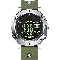 ZfgG Bluetooth Smart Watch Schritt für Schritt Fitness Tracker Anruf Informationen Erinnerung Herrenuhr Sport Elektronische LED Uhr Perfekter Wohnassistent (Farbe : Green)
