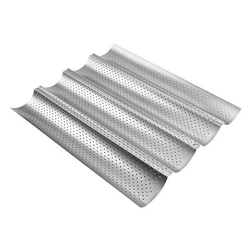 ECENCE Baguette-Backblech Baguetteform für bis zu 4 Baguettes Antihaft Beschichtung Back-Blech 81040307