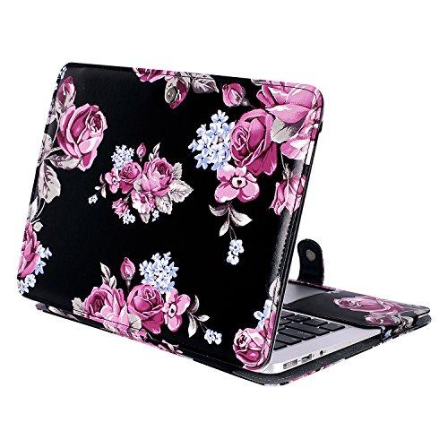 ibel MacBook Air 13 Zoll, Premium Qualität PU Leder Schlanke Schutzhülle Tasche Cover Kompatibel MacBook Air 13 Zoll (A1369 / A1466), Pfingstrose ()