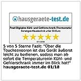 Rosenstein & Söhne Digitales Kühl- & Gefrierschrank-Thermometer, 2 Funk-Sensoren, weiß - 7