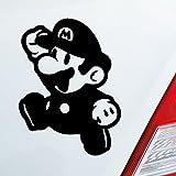 Auto Aufkleber in deiner Wunschfarbe für Super Mario Fans Bros 10x7,5 cm Autoaufkleber Sticker Folie