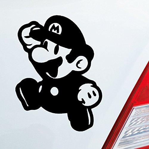 Auto Aufkleber in deiner Wunschfarbe für Super Mario Fans Bros 10x7,5 cm Autoaufkleber Sticker ()