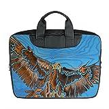 Benutzerdefinierte 15 Zoll importiert Nylon wasserdicht Stoff Laptop tragbare Schulter Messenger Bag Diy Adler Design