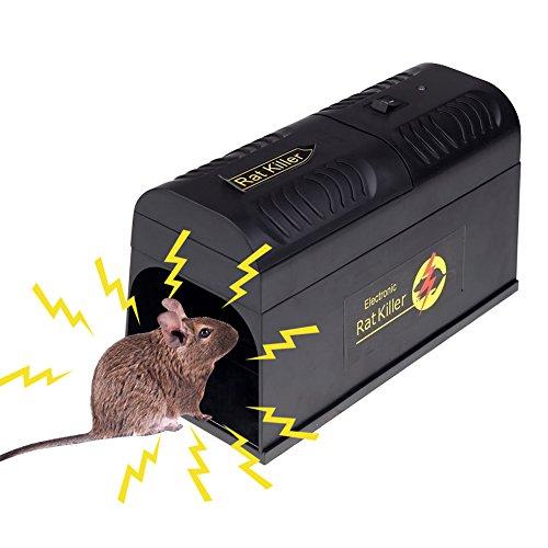 LianLe Trampa para Ratones electrónica, Trampa electrónica del ratón, Modo Seguro para catturare I Ratas, Ardillas y Otros pequeños roedores similares