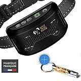 Anti-Bell-Halsbänder für Hunde (Wiederaufladbare) + Trainingspfeife - Geräusche und Vibrationen - Ohne Schock und Schmerzfrei - Wasserfeste IPx7 - LCD Anzeige - Kleiner, mittlerer und großer Hund