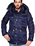 Khujo Herren Jacke Winterjacke Parka Ivar darkblue navy Gr. S Seal Major Italo Pop (S)