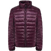 YOUJIA Ligero Chaqueta de pluma para hombre - Acolchado - Aire libre Cálido abrigo de invierno Chaquetas