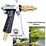 High Quality High Pressure Brass Hose Nozzle Adjustable Water Spray Gun For Car Motorbike And Any Vehicle Cleaning, For Gardening, For Washing, With Best Quality With Hose Clamp