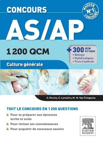 Concours AS/AP 1 200 QCM Culture générale: Concours AS/AP